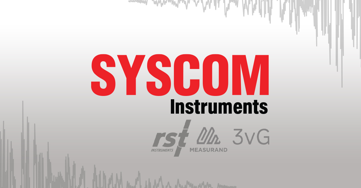 Syscom Instruments joins RST Instruments/Measurand/3vGeomatics