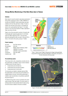 Strong Motion Monitoring of Hsin-Shan dam